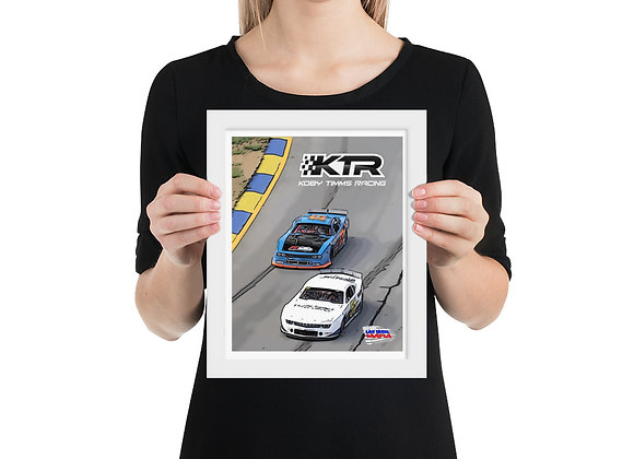 Koby Timms Racing - Framed poster