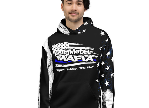 #BackTheBlue All-Over Print Unisex Hoodie