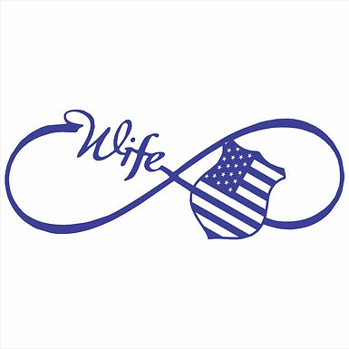 Eternity Wife Vinyl Decal - Custom Color for Police, EMS, Firefighter
