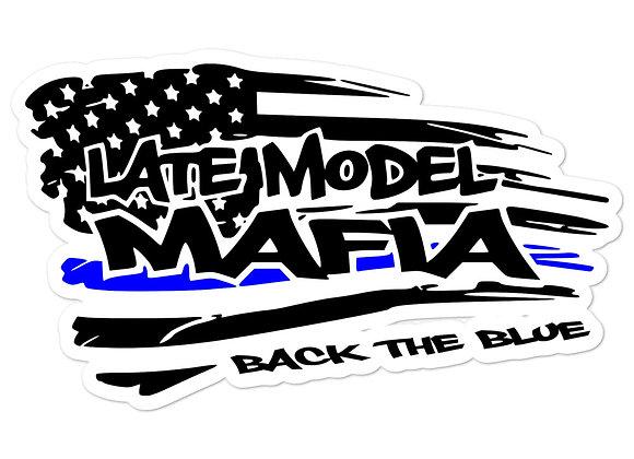 #BACKTHEBLUE - Late Model Mafia - Bubble-free stickers