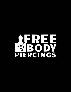 Free Body Piercings Vinyl Decal