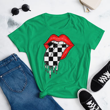 Checkered Tongue - Women's short sleeve t-shirt