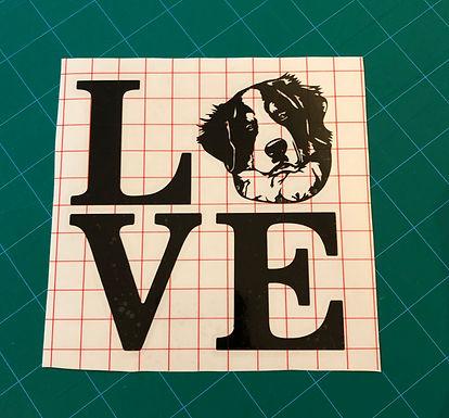 LOVE - Bernese Mountain Dog