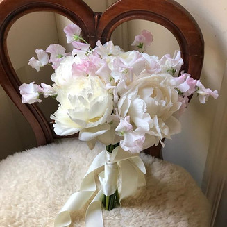 Sweet Pea & Peony Bridal Hand Bouquet