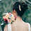 Thumbnail: Rustic Champagne Rose and Calla Lily Bridal Bouquet
