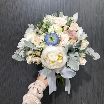 Peony and Nigella Bridal Hand Bouquet