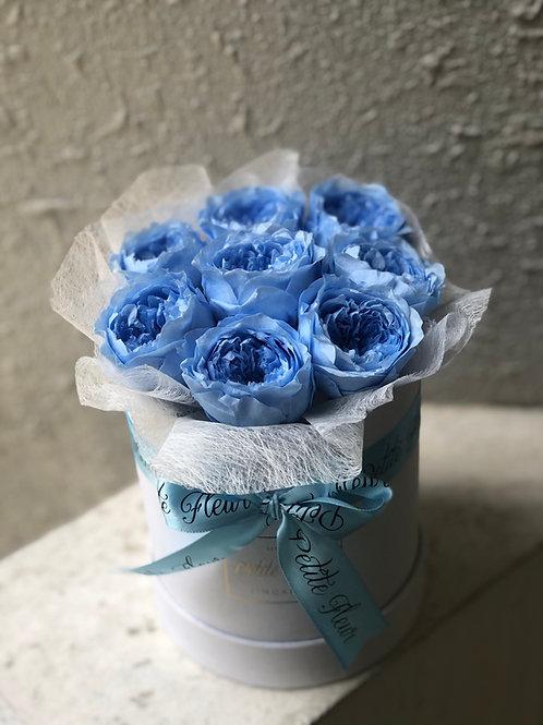 Preserved Garden Roses - Petite Round box
