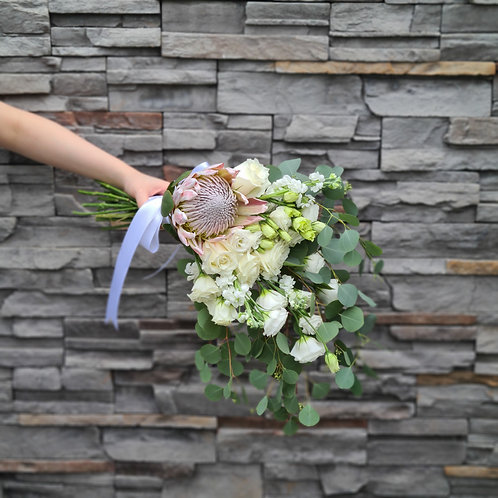 King Protea Cascading Bouquet