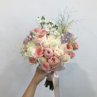 White Roses, David Austin Bridal Hand Bouquet