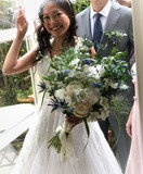 Peony, thistle Bridal Hand Bouquet