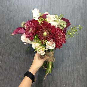 Dahlia Bridal Hand Bouquet