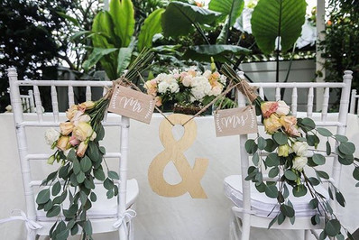 Solemnisation table and chair decor 😍💐