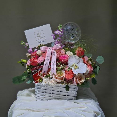 Get Well Soon Floral Basket
