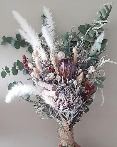 Rustic Protea and Pampas Bridal Bouquet