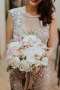 Pastel Phalaepnosis Bridal Hand Bouquet