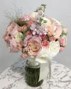 Keira David Austin, Matthiola and Spray Roses Bridal Hand Bouquet