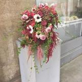 Table river floral arrangement 😍