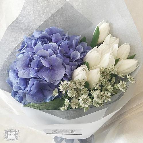 Elegant Hydrangea and Tulip bouquet