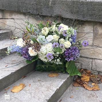 Church altar floral arrangement; natural