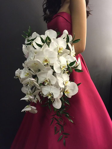 Phalaenopsis Orchid Cascading Bouquet