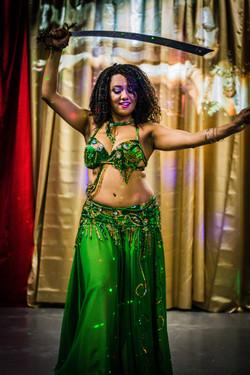Cida Arcanjo dancing with sword
