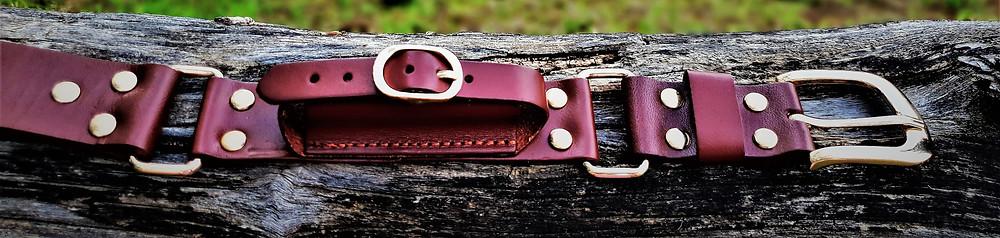 Leather children's hobble belt