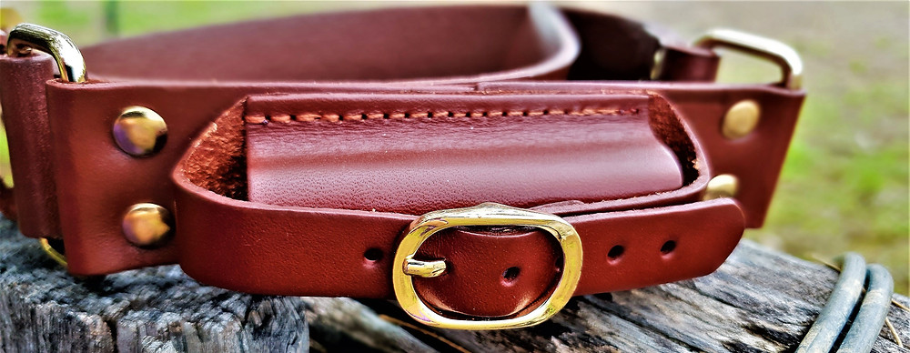 Toddler leather hobble belt