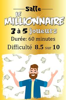 Salle Le Millionnaire, deserteurs jeu d'évasion terrebonne