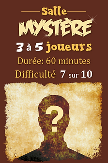 Mystère, escape game