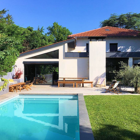 10 - Image piscine et jardin contemporai