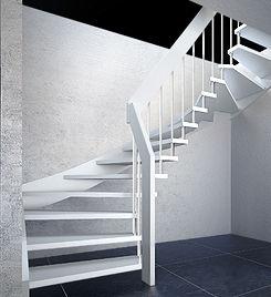 Treppe 2x viertelgewendelt