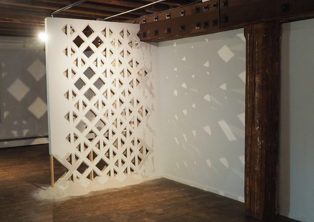 Cutwork, hand carved drywall and dust