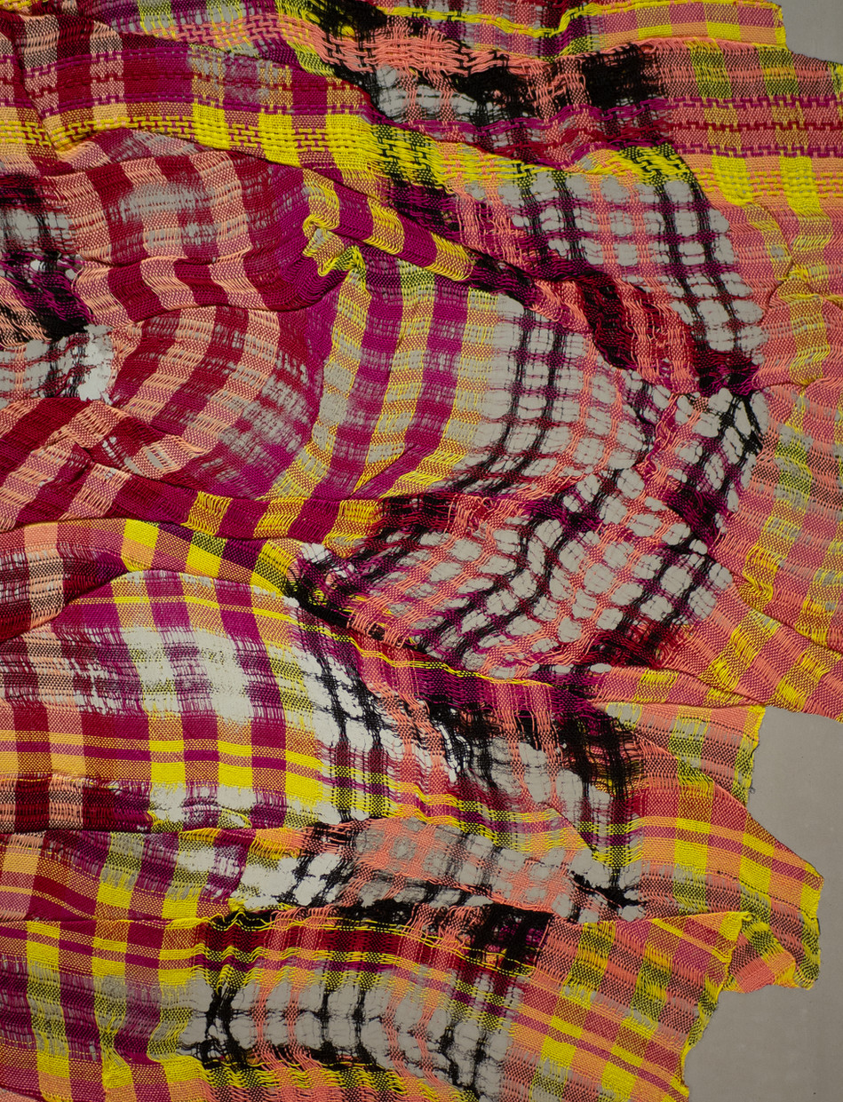 Portrait of a Plaid (red-yellow-black) detail