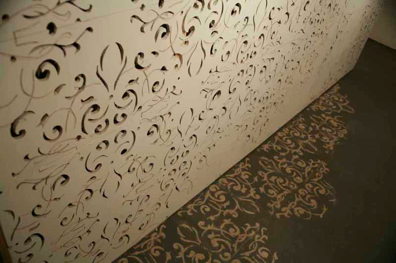 For Jane, hand carved drywall and dust