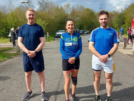 Ballymena Runners trio run 4 miles every 4 hours for 48 hours to raise funds for Cancer Focus NI