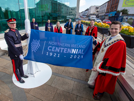 MEA Centennial flag raised to mark 100 years of Northern Ireland
