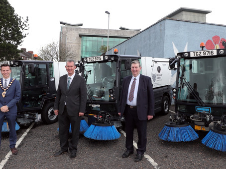 DAERA Minister inspects new street sweepers during visit to Mid and East Antrim