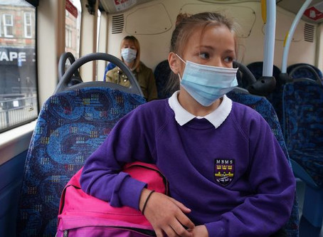 Face coverings to be mandatory on all school transport for post primary children