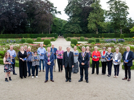 Friends of Antrim Castle Gardens celebrate their Queen's Award for Voluntary Services