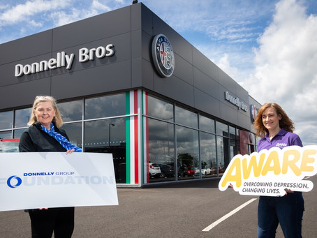 Donnelly Group dives headfirst into charity partnership with Aware NI