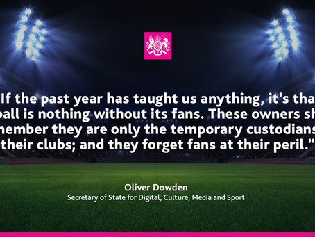 Government Sports Minister triggers fan-led review into European Super League