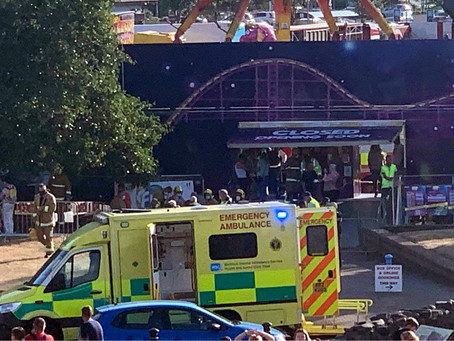 Emergency services rush to scene after fairground ride collapses in Carrickfergus