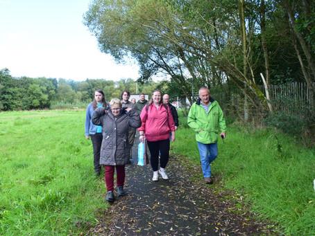Local volunteers 'Dander for Doors' at Ecos Nature Park