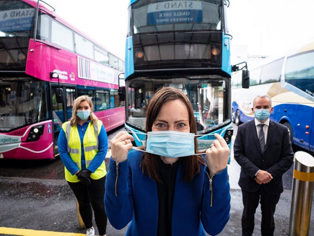 It's now law that passengers and staff on public transport MUST wear a face covering.