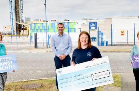 Moy Park and Alzheimer's Society celebrate £20,000 fundraising milestone