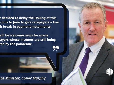 Department of Finance announce Rate bills to issue in May