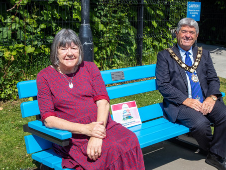 New 'Chatty Bench' for Antrim Castle Gardens