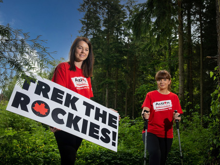 Action Cancer calls on County Antrim adventurers to join '2022 Trek the Rockies' Challenge