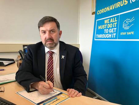 Health Minister Robin Swann Signs White Ribbon Charter