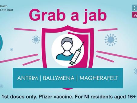 Mobile vaccination clinics coming to Antrim, Ballymena and Magherafelt